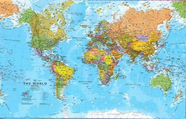 Cartina Mondo Politico.Carte Geografiche Politiche Fisiche Stradali Trekking